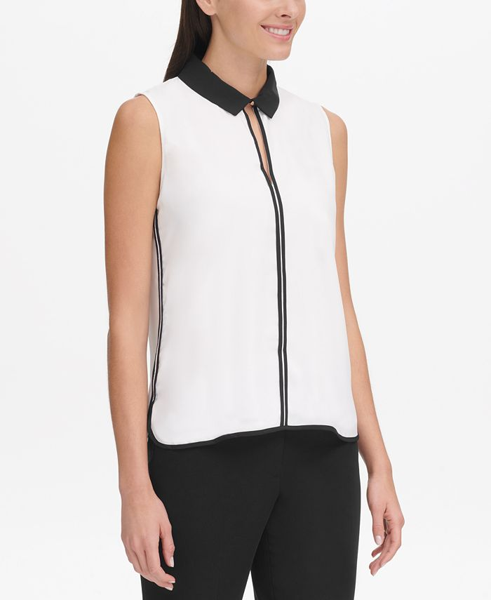 Tommy Hilfiger - Sleeveless Collared Top