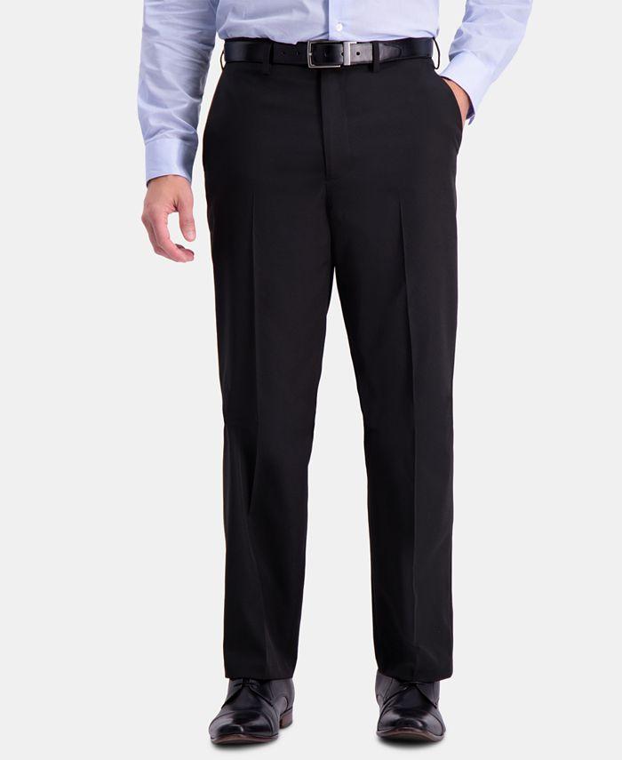 Haggar - Men's Active Series Herringbone Classic-Fit Suit Pants