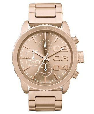 diesel chronograph gold tone stainless steel