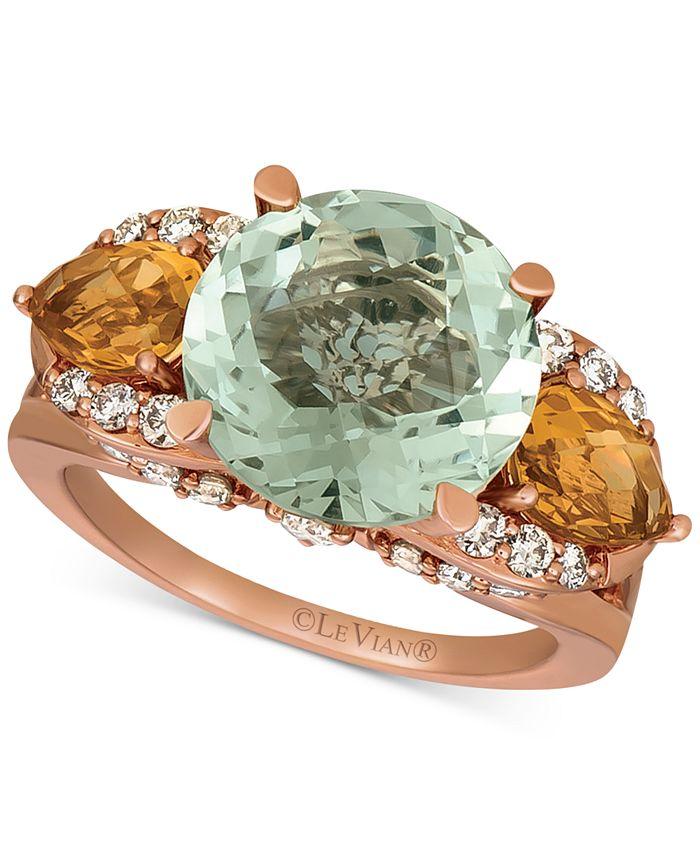 Le Vian - Multi-Gemstone (7-1/5 ct. t.w.) & Nude Diamond (5/8 ct. t.w.) Ring in 14k Rose Gold
