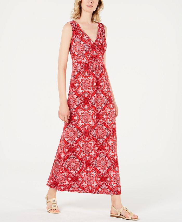 Charter Club - Printed Maxi Dress