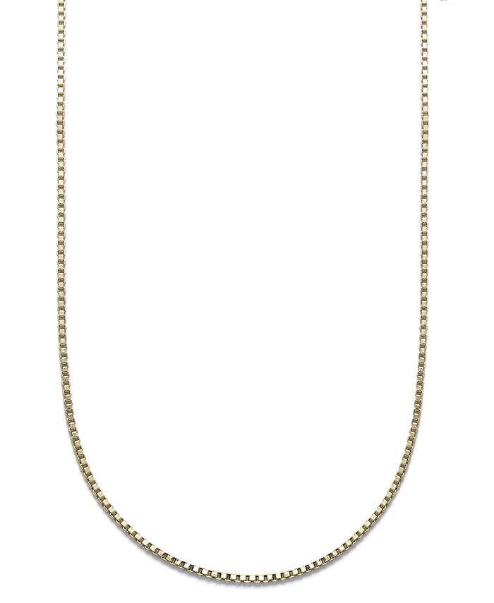"""Giani Bernini - 24k Gold over Sterling Silver Necklace, 18"""" Box Chain"""