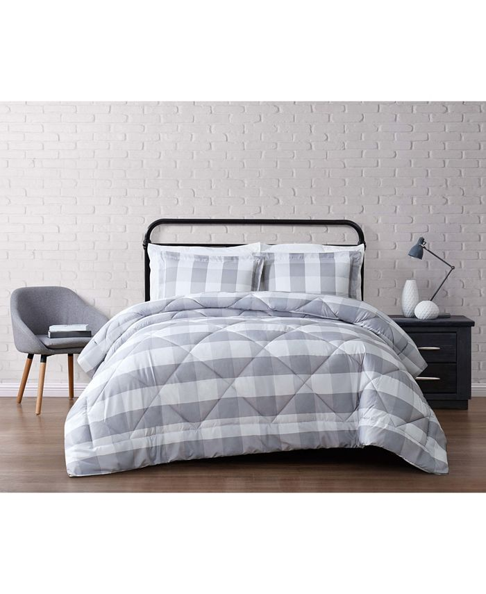 Truly Soft - Everyday Buffalo Plaid Navy King Comforter Set