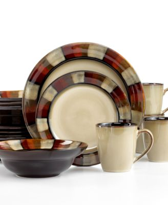 Gourmet Basics By Mikasa Horizon Red 16-Piece Set