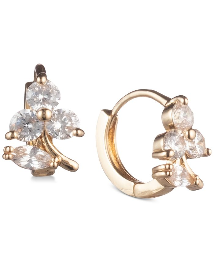 lonna & lilly - Gold-Tone Crystal Hoop Earrings