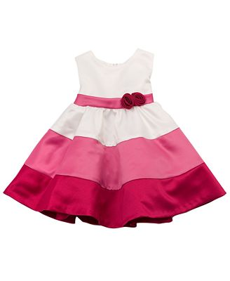 Rare Editions Baby Dress Baby Girls Color Block Dress