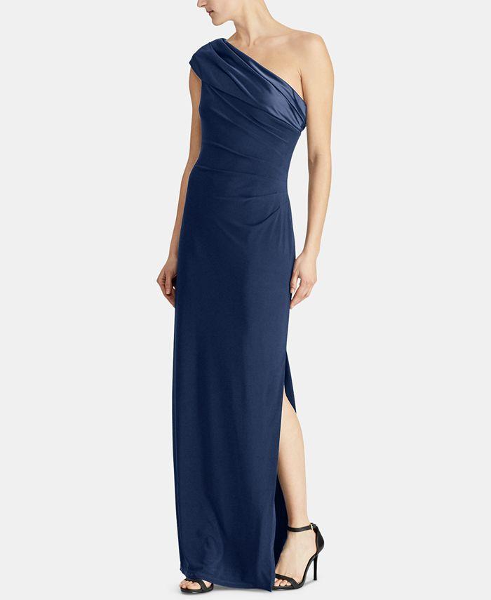 Lauren Ralph Lauren - One-Shoulder Gown
