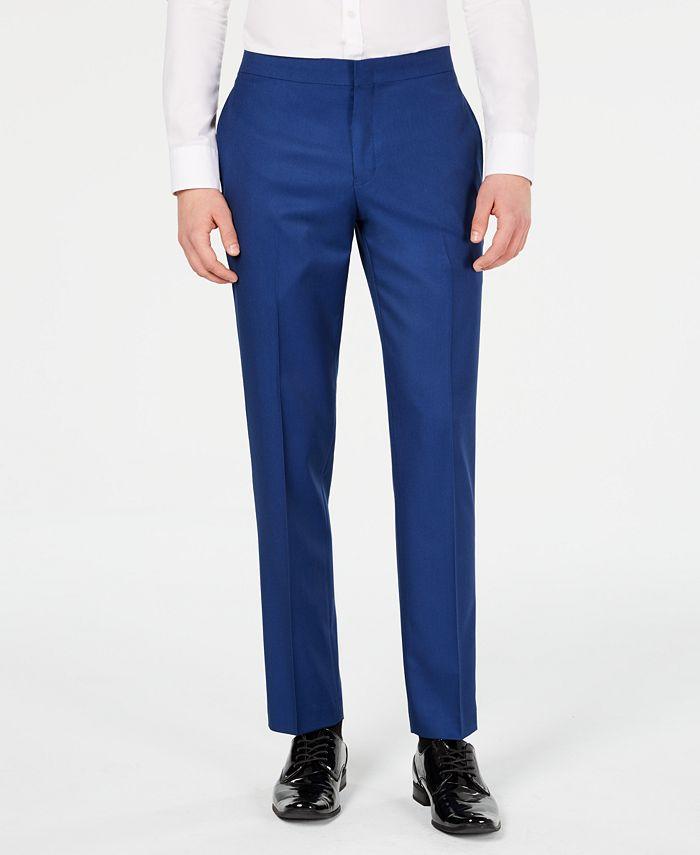 Ryan Seacrest Distinction - Men's Slim-Fit Stretch Cobalt Blue Prom Suit Pants