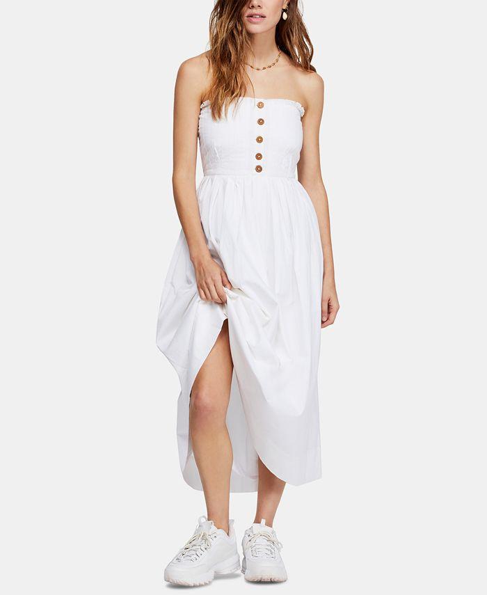 Free People - Lilah Pleated Strapless Midi Dress
