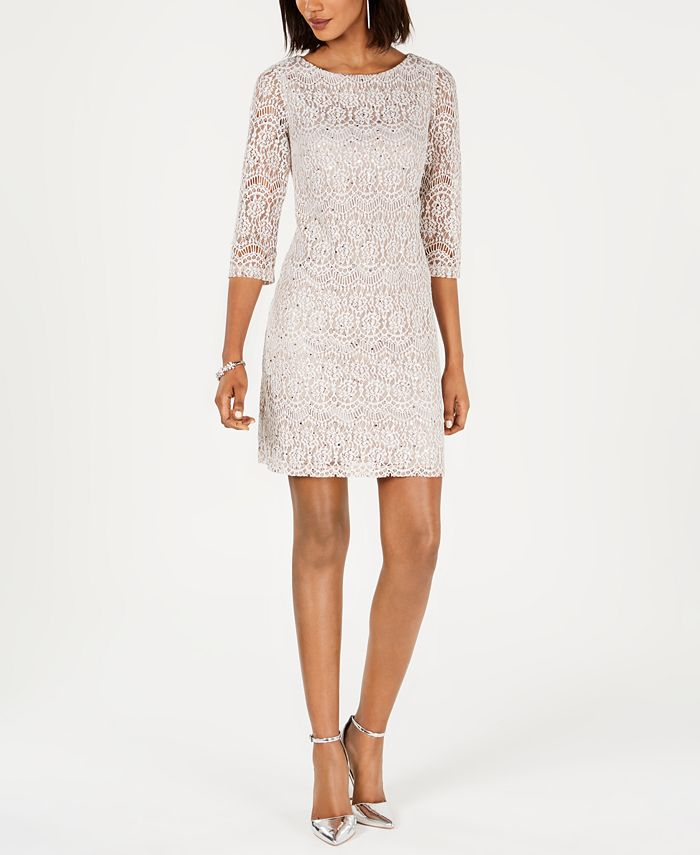 Jessica Howard Lace Shift Dress Reviews Dresses Petites Macy S