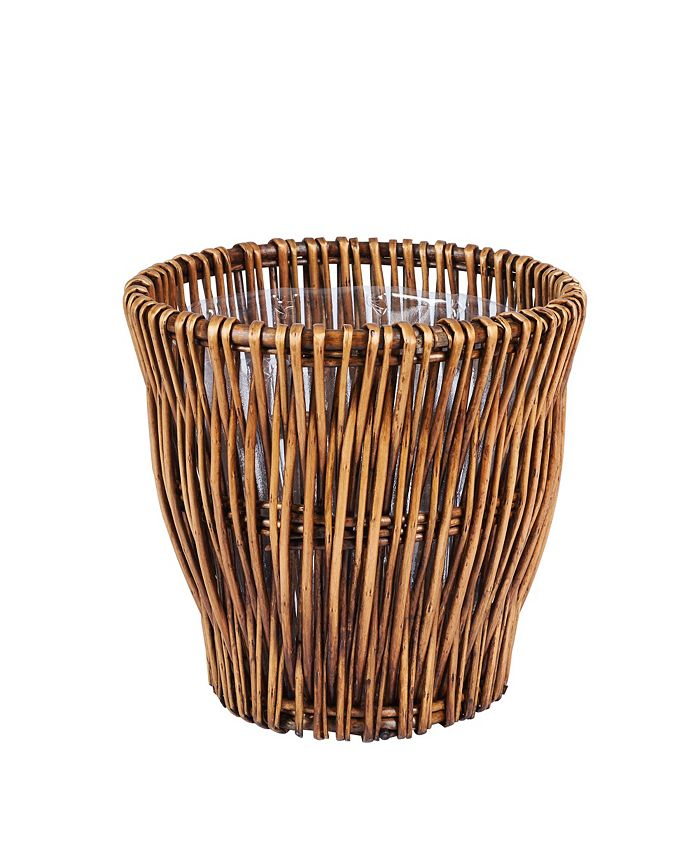 Household Essentials - Small Reed Willow Waste Basket