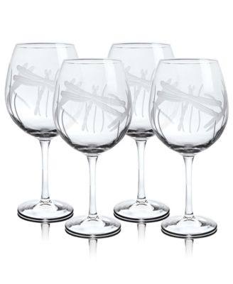 Dragonfly All Purpose Wine 18Oz - Set Of 4 Glasses