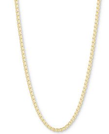 """CHARMBAR™ Box Link Chain Necklace, Adjustable 16"""" - 20"""""""