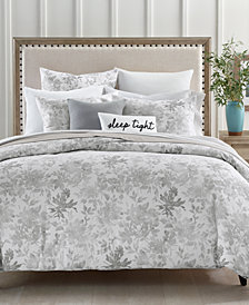 CLOSEOUT! Charter Club Damask Designs Watercolor Leaf 300-Thread Count 3-Pc. Full/Queen Comforter Set, Created for Macy's