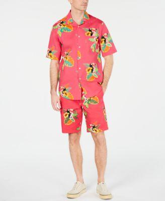 Men's Tropical Print Shirt, Created for Macy's