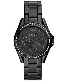 Fossil Women's Riley Black Stainless Steel Bracelet Watch 38mm
