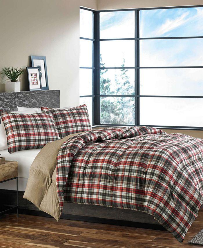 Eddie Bauer - Astoria Dark Red Comforter Set, Twin