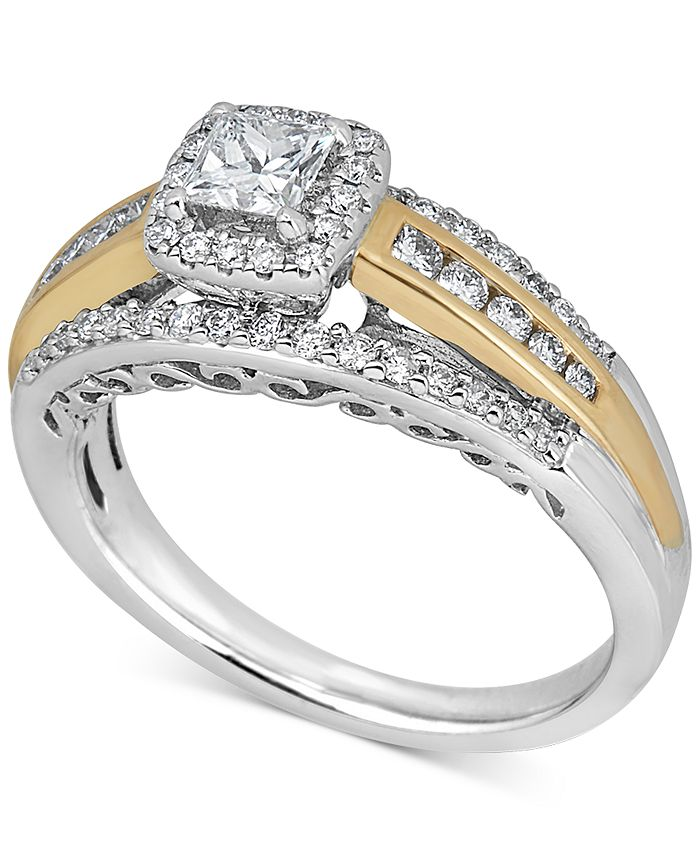 Macy's - Diamond Engagement Ring (3/4 ct. t.w.) in 14k Gold & 14k White Gold