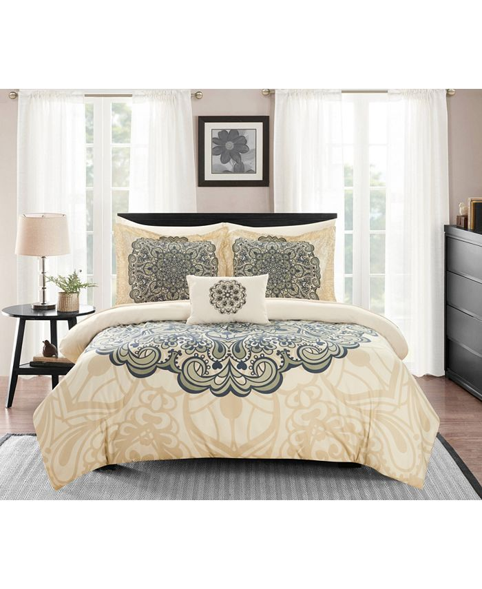 Chic Home - Palmer 8-Pc. Bed In a Bag Comforter Sets