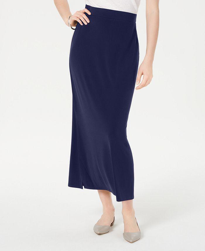 JM Collection - Side-Slit Pull-On Skirt