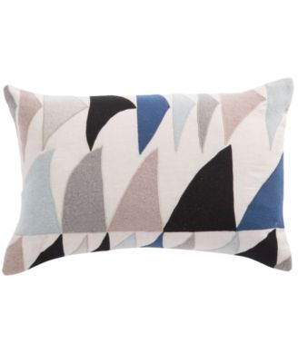 "Nikki Chu By Priscilla Geometric Down Throw Pillow 16"" x 24"""