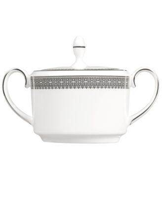 Vera Wang Wedgwood Dinnerware, Lace Covered Sugar Bowl