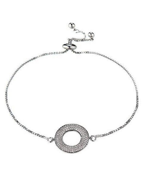 Nicole Miller Cubic Zirconia Halo Flower Bracelet