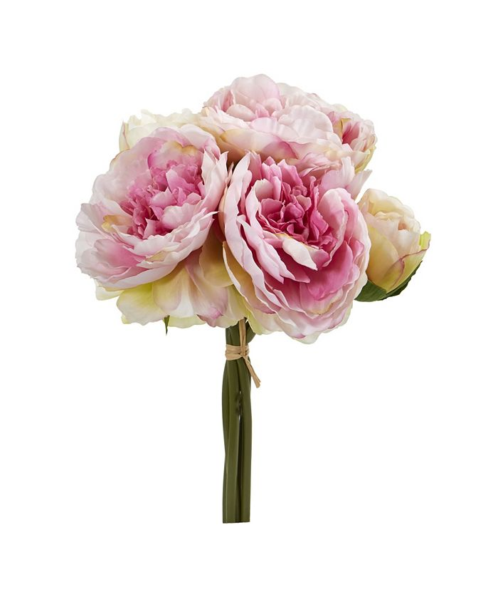 Nearly Natural - Peony Bouquet Artificial Flower (Set of 6)