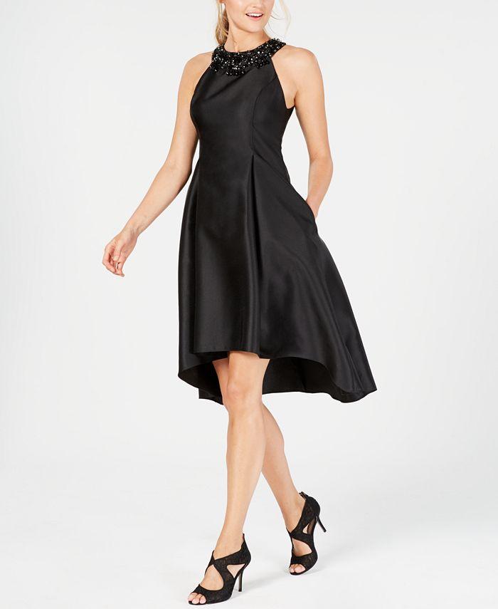Adrianna Papell - Rhinestone-Embellished Fit & Flare Dress