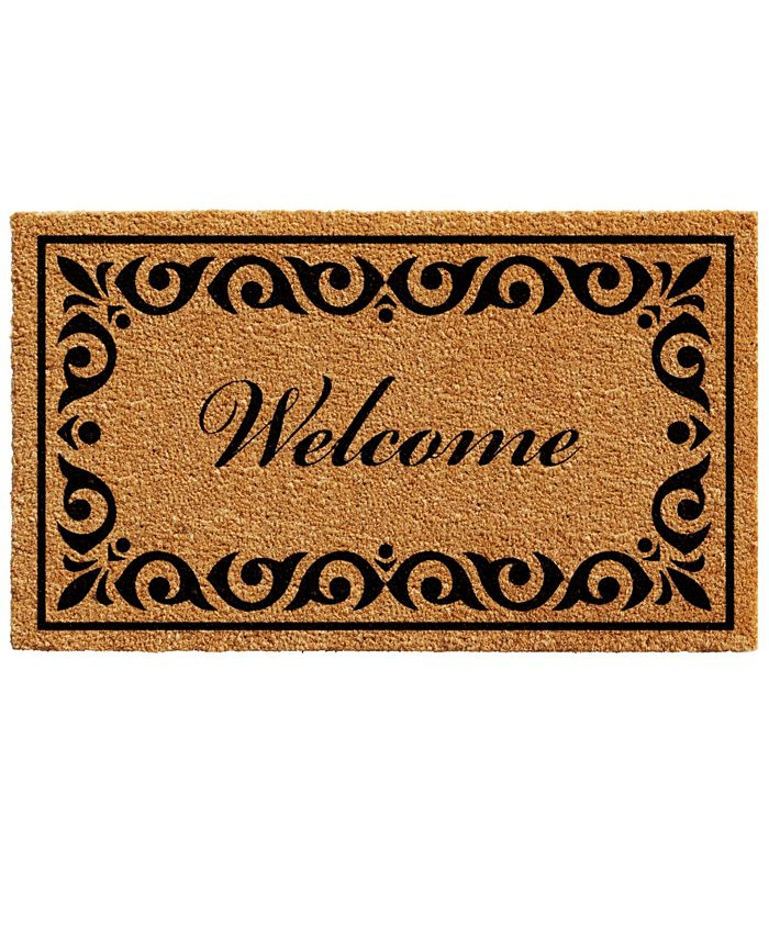"""Home & More - Breaux 17"""" x 29"""" Welcome Coir/Vinyl Doormat"""