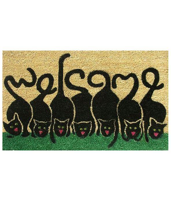 """Home & More Cats Welcome 24"""" x 36"""" Coir/Vinyl Doormat"""