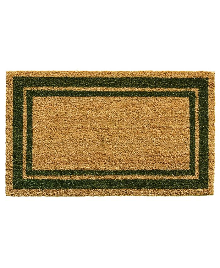 "Home & More - Border 18"" x 30"" Coir/Vinyl Doormat"