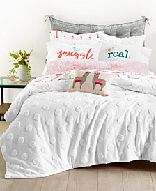 Whim by Martha Stewart Collection Chenille Dot 3-Pc. Full/Queen Comforter Set, Created for Macy's