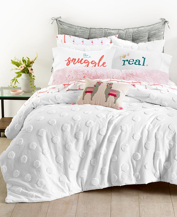 Martha Stewart Collection Chenille Dot 3-Pc. Full/Queen Comforter Set, Created for Macy's