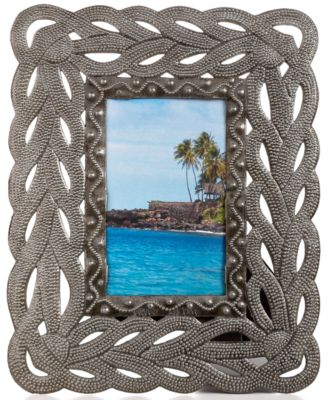 "Heart of Haiti Picture Frame, Fish Scale 4"" x 6"""