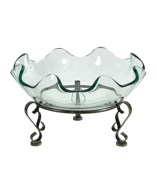 AB Home Twyla Decorative Glass Pedestal Bowl