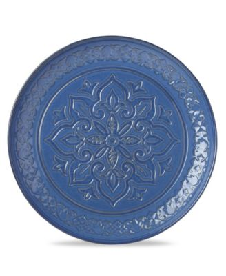 Global Tapestry Round Server Blue