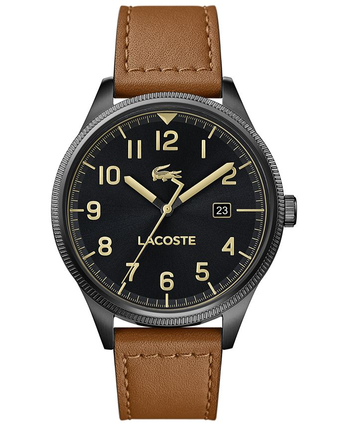 Lacoste - Men's Continental Tan Leather Strap Watch 43mm