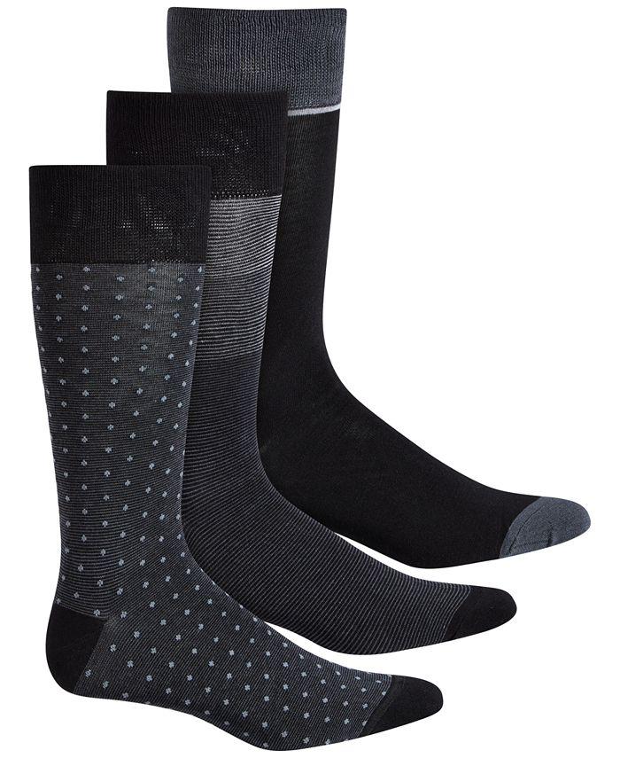 Perry Ellis Portfolio - 3-Pk. Men's Colorblocked Striped Socks