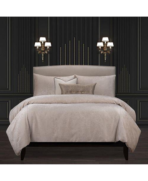 Rhyme Cream Luxury Bedding Set, Luxury Cream And Gold Bedding