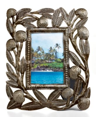"Heart of Haiti Picture Frame, Metal Breadfruit 4"" x 6"""
