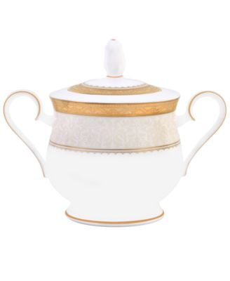 Noritake Dinnerware, Odessa Gold Covered Sugar Bowl