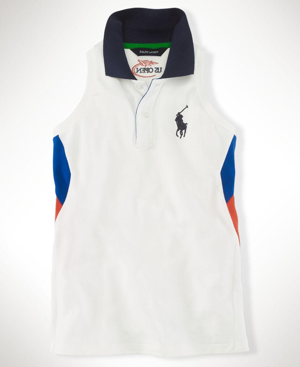 Ralph Lauren Kids Shirt, Little Girls US Open Racerback Sleeveless Polo   Kids