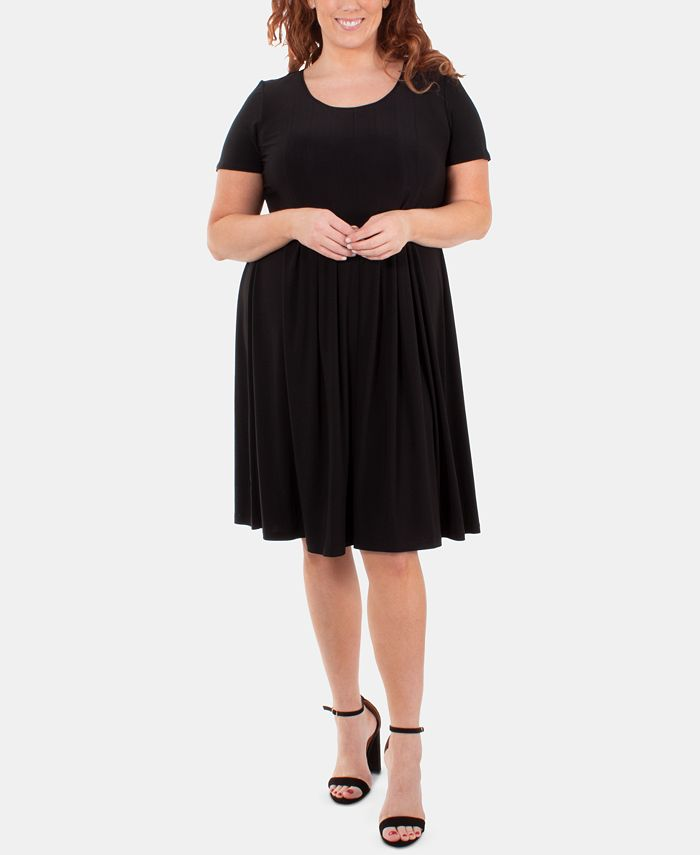 NY Collection - Plus Size Pleated Dress