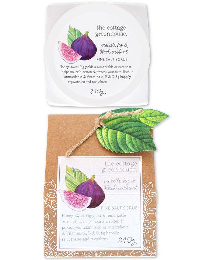 The Cottage Greenhouse - Violette Fig & Black Currant Fine Salt Scrub, 12-oz.