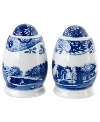 Spode Dinnerware, Blue Italian Salt and Pepper Shakers