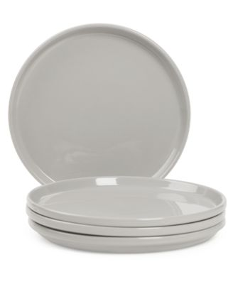 CLOSEOUT! Stax Living Dinnerware, Set of 4 Gray Salad Plates