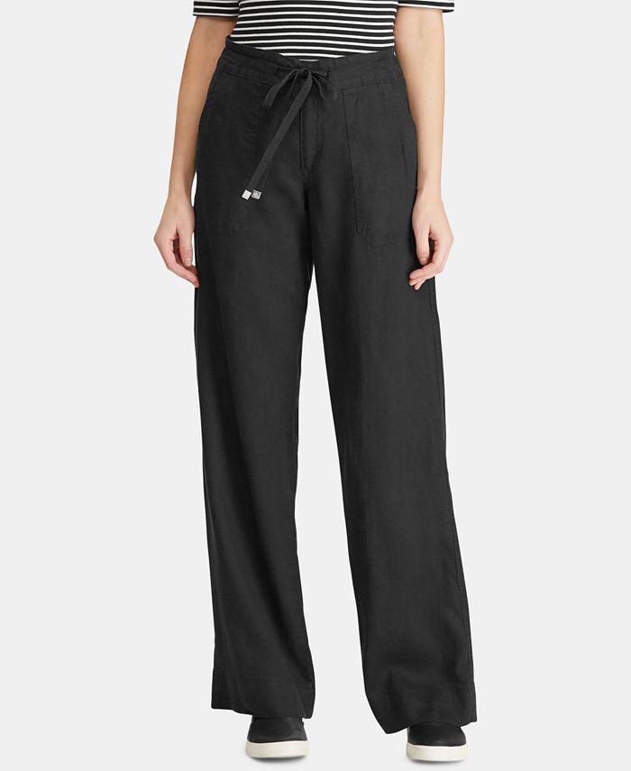 Lauren Ralph Lauren - Wide-Leg Linen Pants
