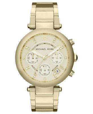 michael kors s chronograph gold tone