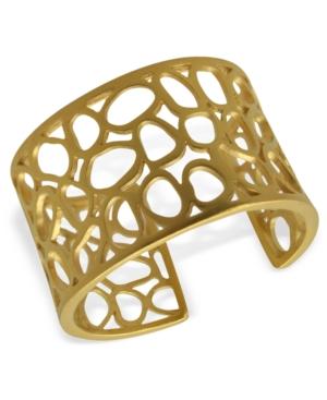 T Tahari Bracelet, 14k Gold Plated Essentials Openwork Cuff Bracelet